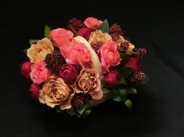 茶色の薔薇の✿アレンジ✿